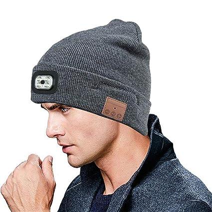 f1ff440e45b Amazon.com  FOONEE Wireless Bluetooth Beanie Hat Music Knitted Cap ...