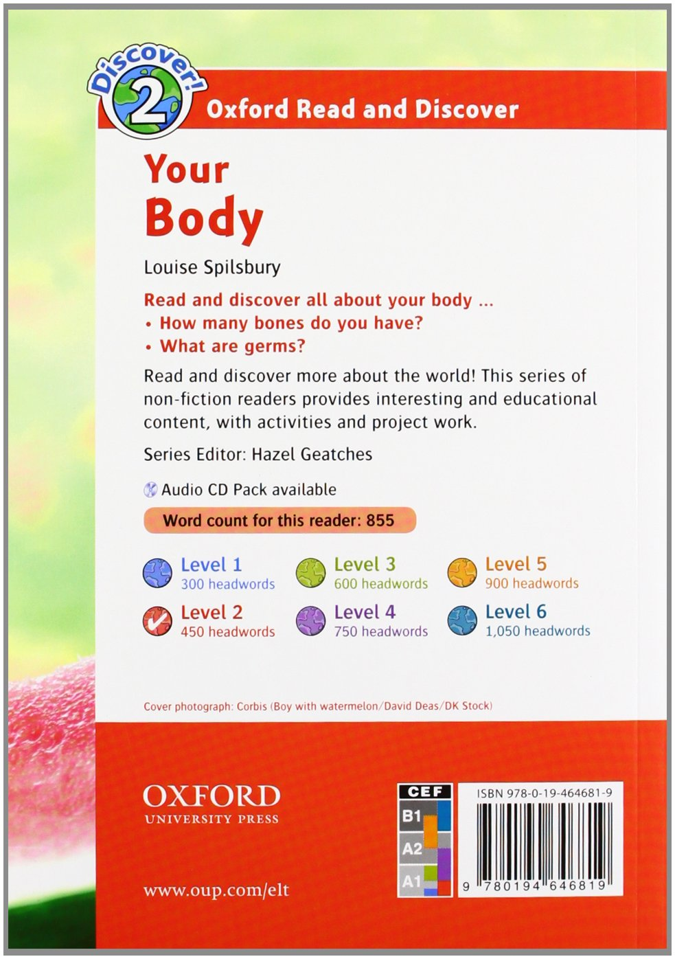 Your Body Audio CD Pack (Oxford Read and Discover: Level 2)
