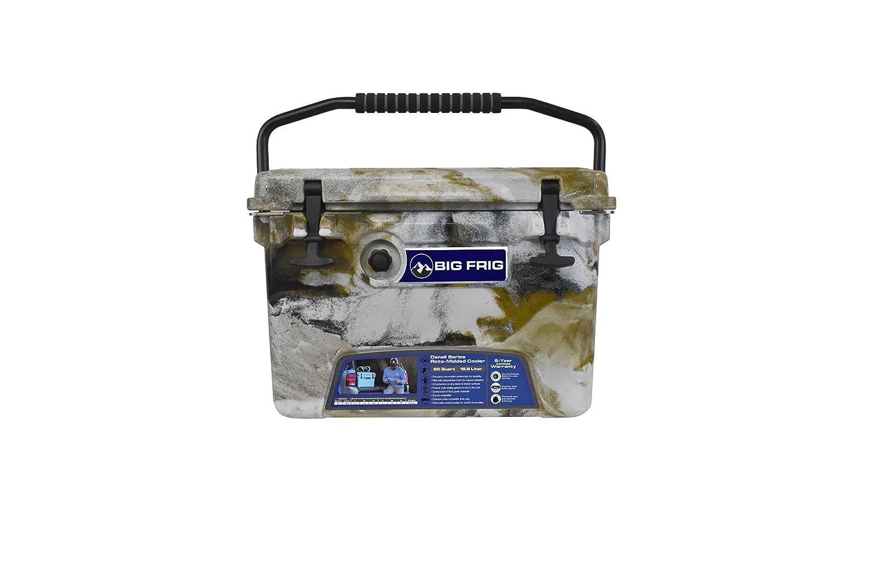 Big Frig Desert Camo Denali Cooler (20 Quart) Bundle includes Cutting Board/Divider, Basket, 5 Year Limited Warranty