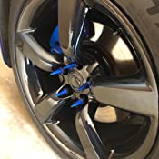 Works with Nissan Infiniti 350Z GTR Q50S G37 Supreme Engineering Technologies 20PC Blue Spiked Extended Lug Nuts 12x1.25