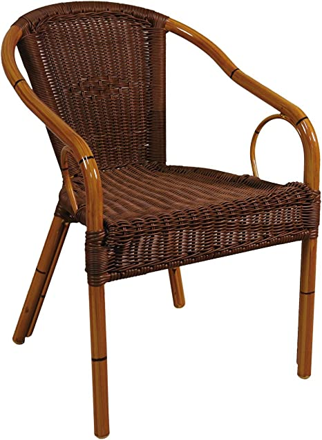 braun Hansen Outdoor 10//108 Outdoor-Sessel mit Metalldrahtverst/ärkung T 61 B 56 H 80 SH 45 cm