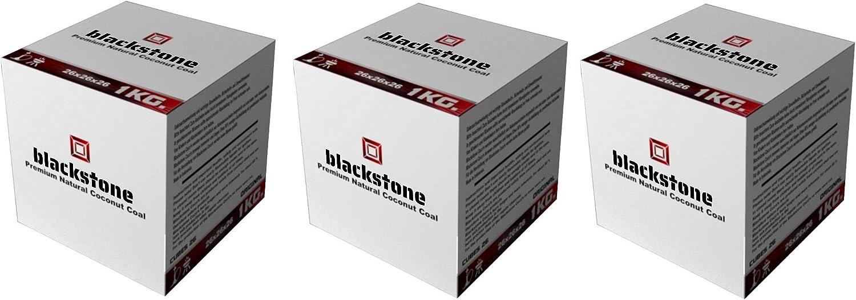 Geschmacksneutral 1x 1kg BLACK STONE Premium Kokosnuss Coco Naturkohle Shishakohle Coal Briketts f/ür Wasserpfeife /& Grill Lange Brenndauer geringer Ascheanteil geruchslos