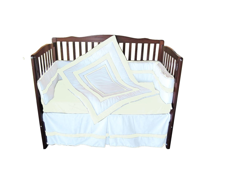 Baby Doll Bedding Modern Hotel Style Crib Bedding Set, Ivory by BabyDoll Bedding   B008B346ZI