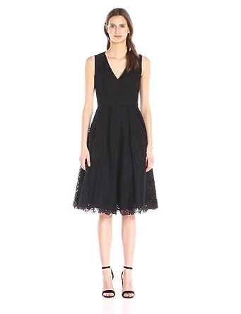 1c5e165a00d Amazon.com  Eliza J Women s V Neck Eyelet Dress