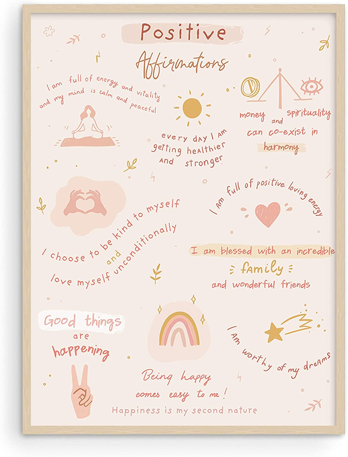 """Positive Affirmations Positive Quotes Wall Decor - By Haus and Hues 