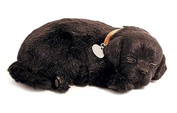 Perfect Petzzz 65410 - Peluche interactivo de perro labrador (25 cm, efecto de respiración