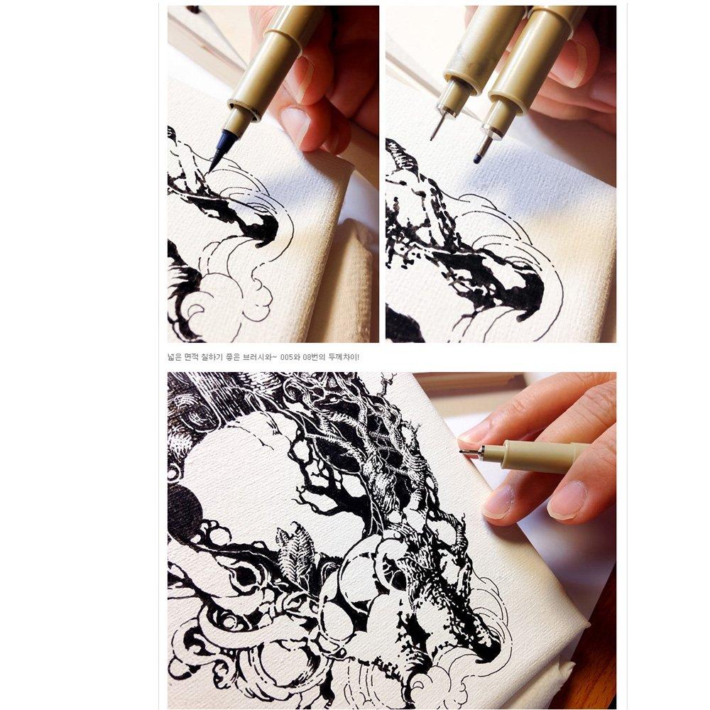 Sakura Pigma Micron Fine Line Pen High Light and Soft Head Pen Manga Drawing Assorted 8 Pens Set Sepia, 005-8 Pens