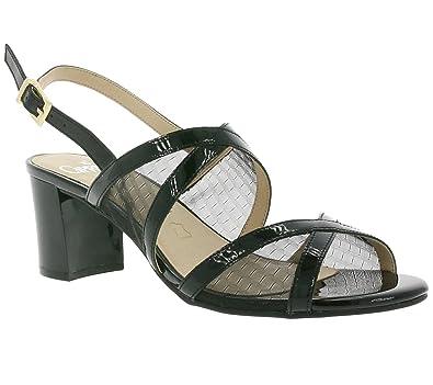 online store 3d95a cfff9 CAPRICE Grid Schuhe Damen Sandaletten Sandalen Schwarz ...