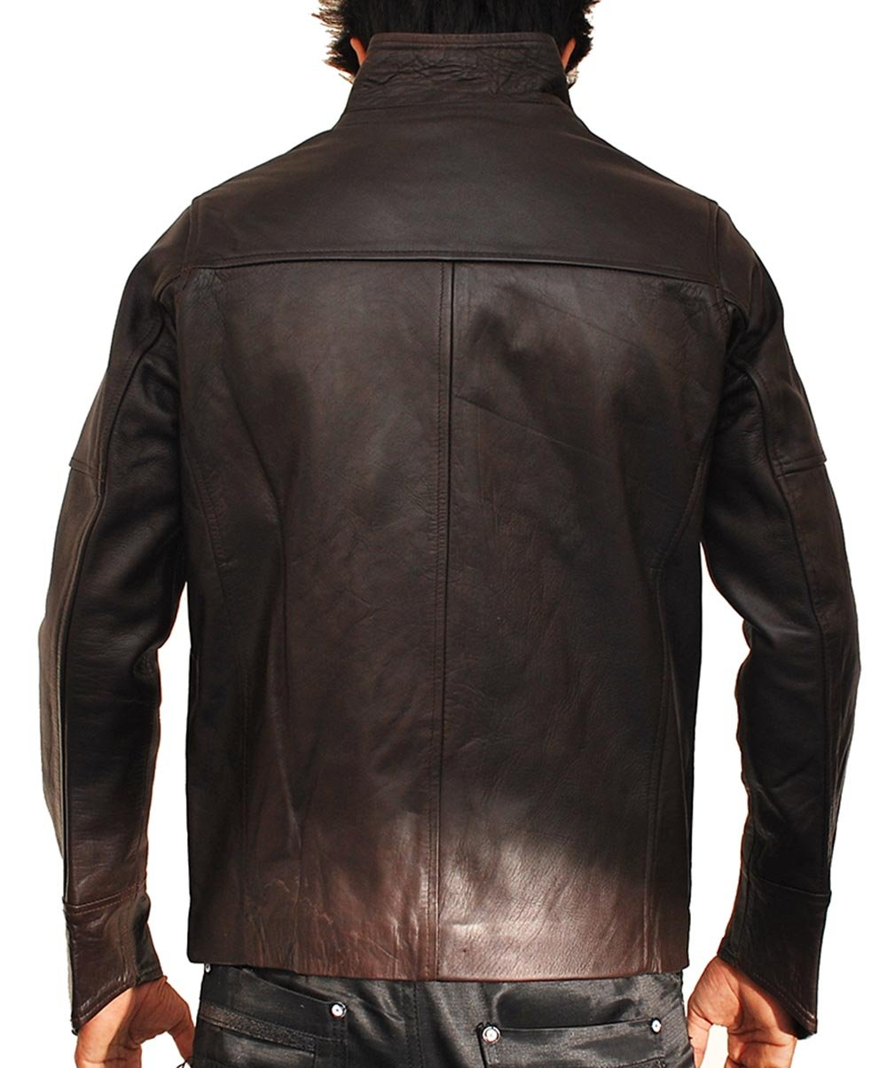 John Travolta From Paris With Love Leather Jacket by MPASSIONS (Image #3)