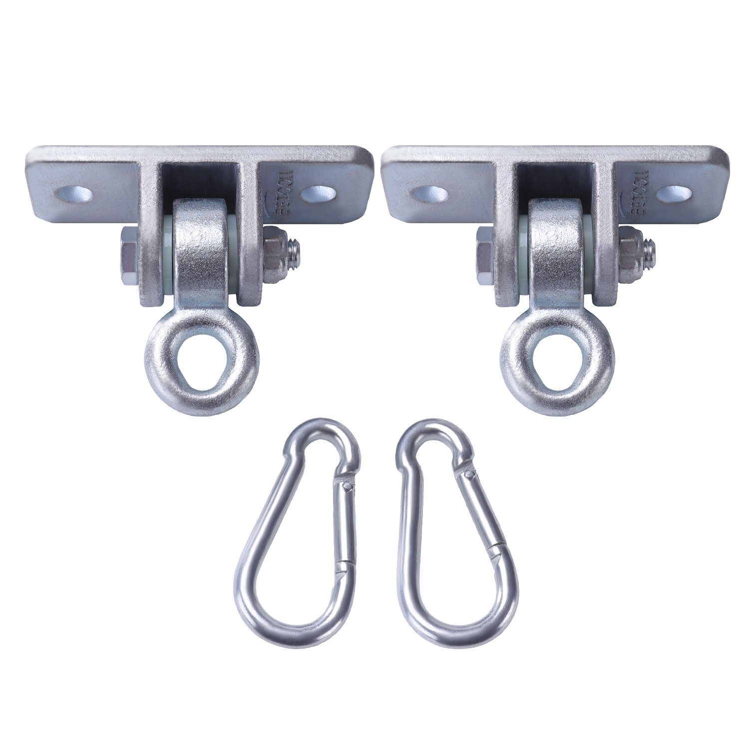 BETOOLL 2400 lb Capacity Heavy Duty Swing Hangers for Wooden Sets Playground Porch Indoor Outdoor & Hanging Snap Hooks