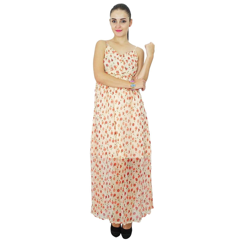 Bimba Womens Chiffon Long Custom Dress Chic Summer Maxi Beach Wear