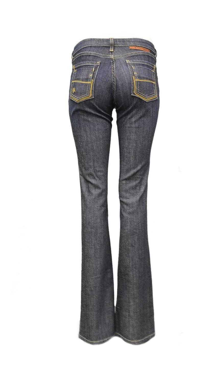 KARMEL & ALDEN Womens Laurie Flared Medium Rise Jeans Dark Wash 160842TAG