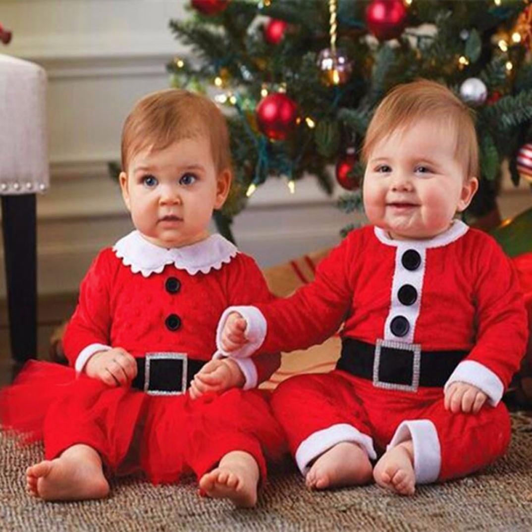 Ropa longra infantil bebé niña Navidad Cristal terciopelo de manga larga camiseta escalada Ropa Pelele vestido + Santa Hute rojo 56 : Amazon.es: Ropa y ...