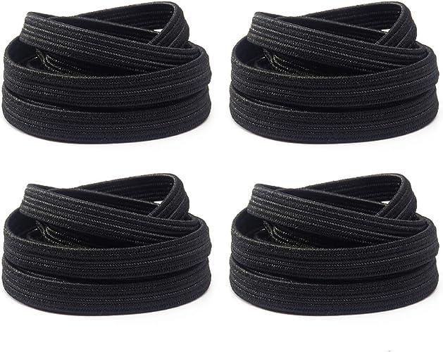 Image ofxxin Cordones de zapatos elásticos planos Cordones de repuesto - Zapatos sin cordones para botas deportivas para correr Zapatillas de deporte Zapatos casuales Zapatos para niños y adultos