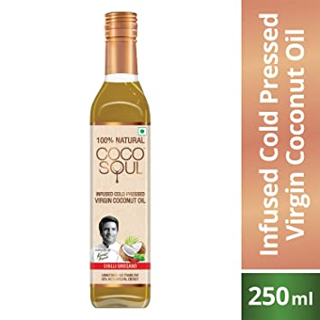 Coco Soul Chilli Oregano Infused Oil Bottle, 250 ml