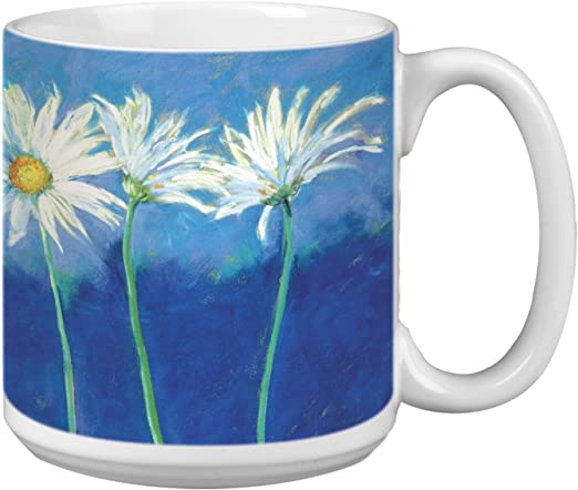 XM29479 Tree-Free Greetings Extra Large 20-Ounce Ceramic Coffee Mug Watercolor Waves Themed Shell Rummel Art