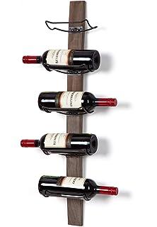 7e8236c97c SODUKU Wall Mounted Wine Rack - Wine Bottle Holder Towel Rack, 5 Wine  Bottle Rack