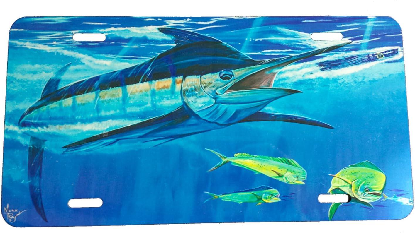 Lobo Lures Bigeye Tuna Metal Truck Car License Plate Big Game Fishing Mark Ray