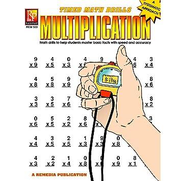 Amazon.com: Remedia Publications REM503 Multiplication Timed Math ...