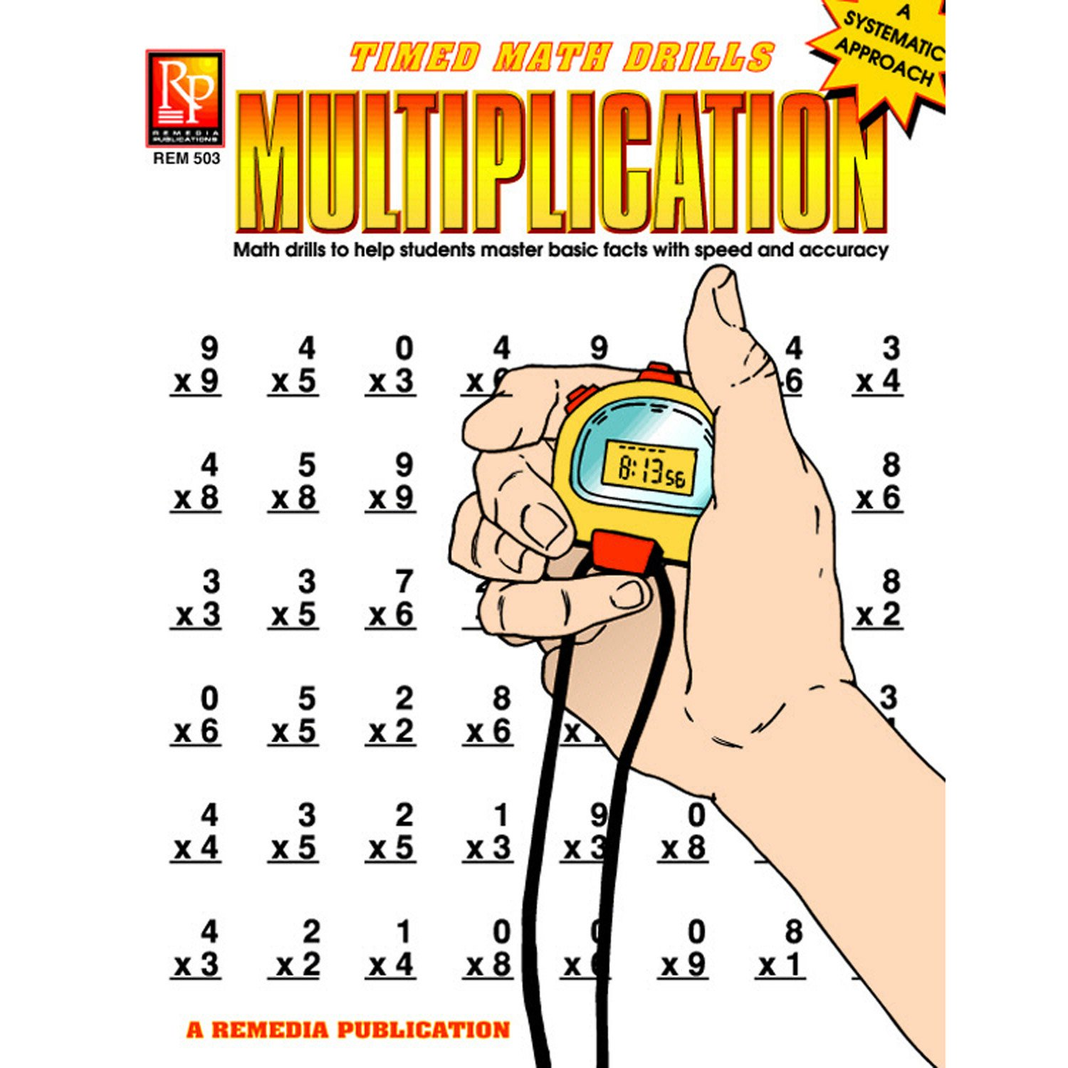 Remedia Publications REM503 Multiplication Timed Math Drills Book ...