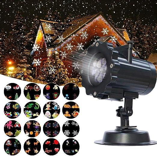 Proyector de Luz, Guaiboshi Proyector LED Iluminación con 16 Mover ...