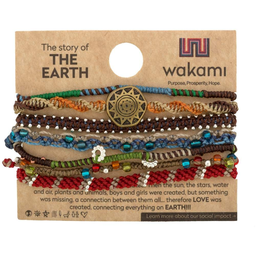 GreaterGood Guatemalan Seven-Strand Earth Bracelet by GreaterGood
