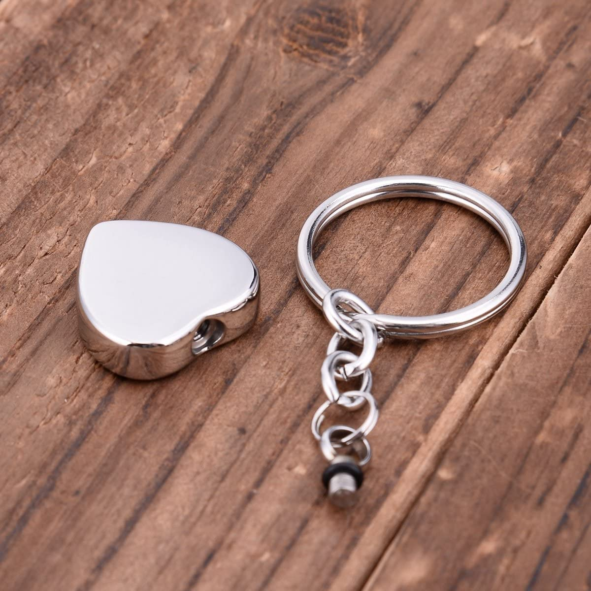 SG Cross Heart Pendant Cremation Urn Keychain Memorial Keepsake Ashes Jewelry with Free Engraved