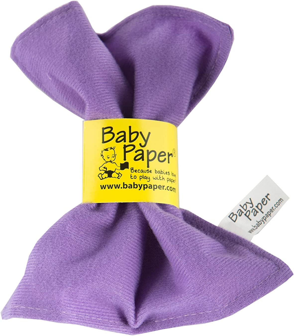 Lilac Washable The for Baby Showers Baby Paper Original Crinkle Teether and Sensory Toy for Babies and Infants Non-Toxic