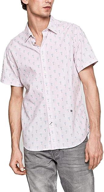 PEPE JEANS HOME - Camisa de Manga Corta Hombre: Amazon.es: Ropa y accesorios