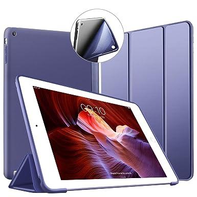 VAGHVEO Funda para iPad 2 / 3 / 4, Ultra Slim Protectora Silicona Smart Cover [Auto-Sueño/Estela] Cubierta Trasera de silicona suave TPU Case para ...