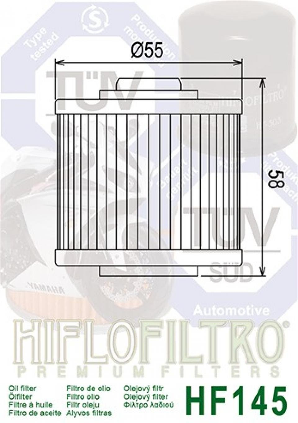 Filtro de aceite Hiflo Filtro Quad Yamaha 700 Yfm R Raptor 2006-2011