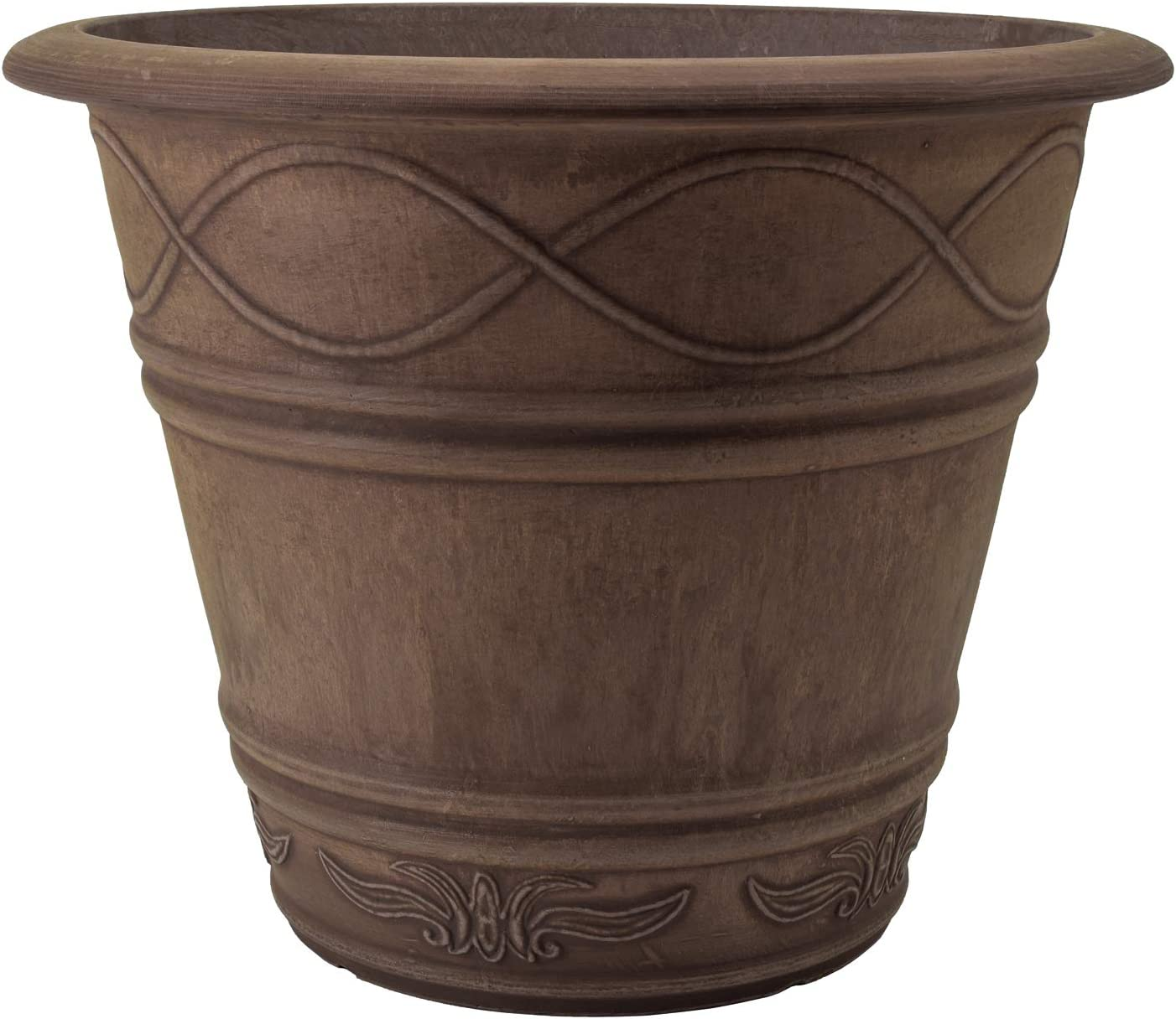 PSW, Chocolate ME36C Western Weave Planter, 14 by 11.5-Inch