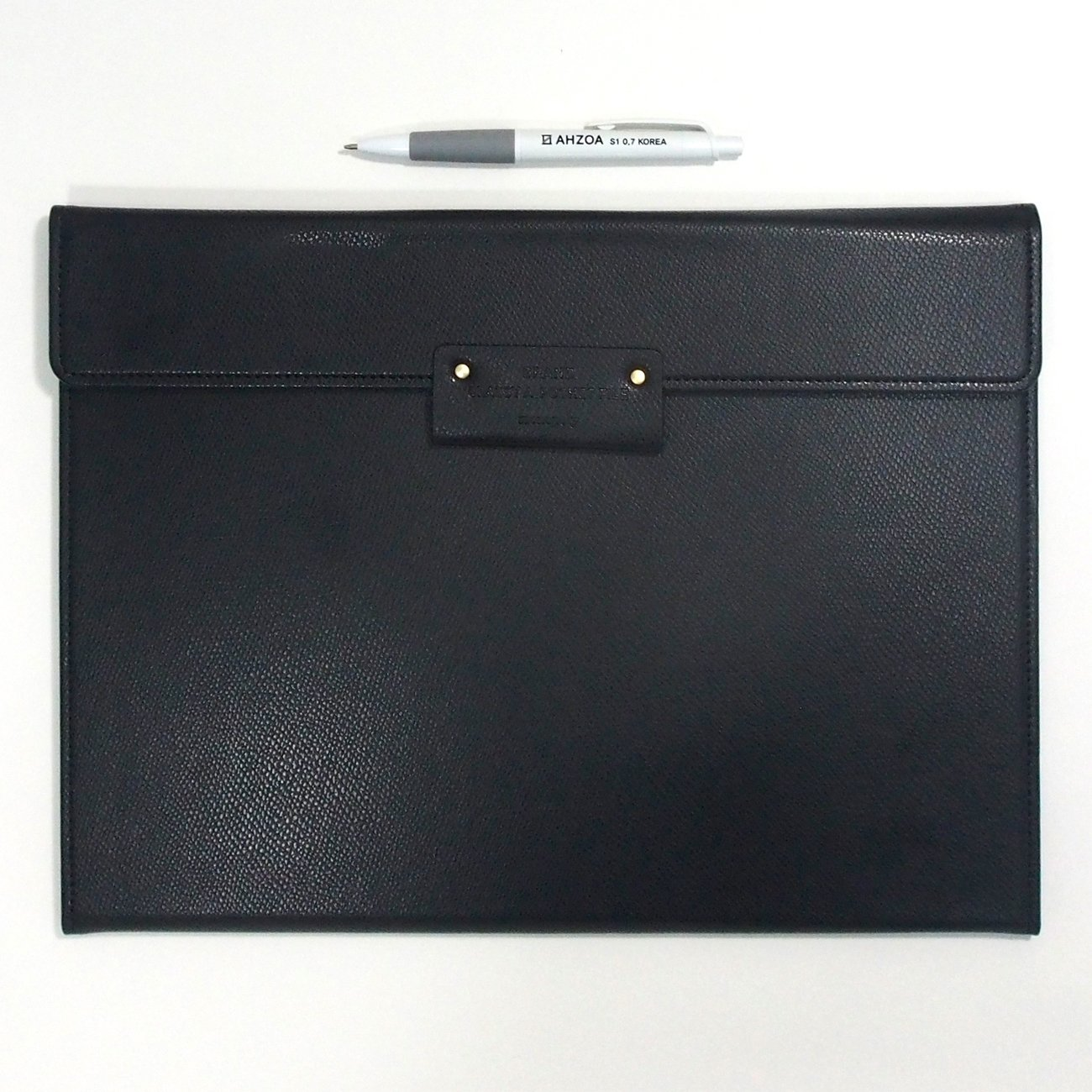 Grand Classy 8 Pockets File Holder with AHZOA Pencil (black) by Monopoly (Image #2)