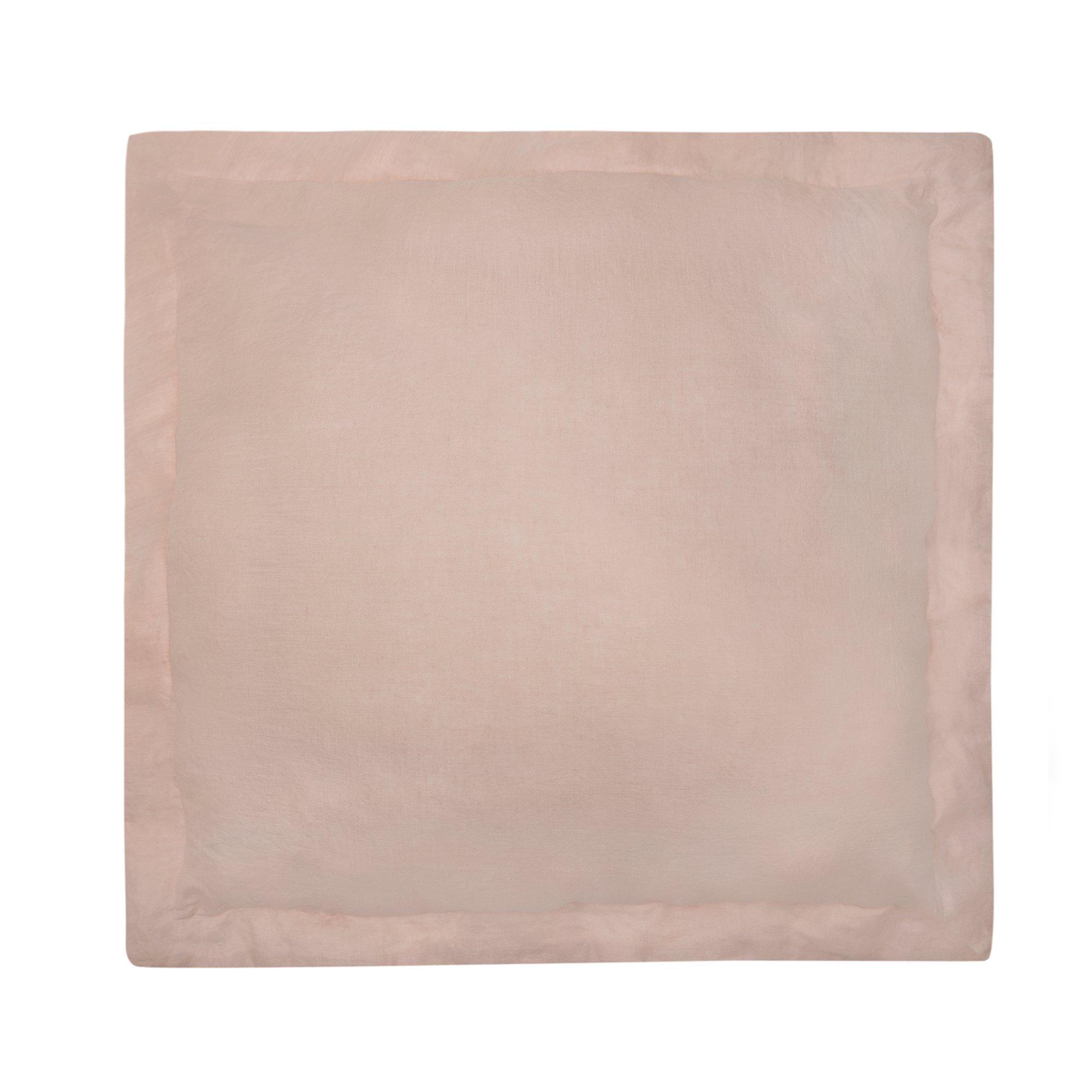 Levtex Washed Linen Blush Euro Sham w/Flange