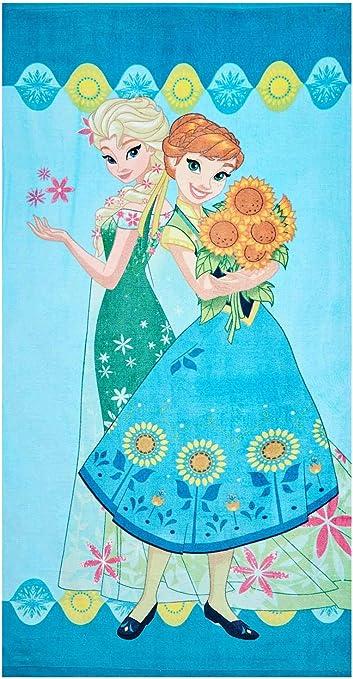 Disney Frozen Elsa Asciugamano da bagno telo mare in cotone taglia 140 x 70 cm