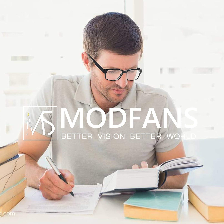 Cerniera a Molla MODFANS Confezione da 3 Occhiali da Lettura 1.0 Presbiopia Uomo Donna Lente Trasparente Montatura Rettangolare Leggera Classico Comodo Blu