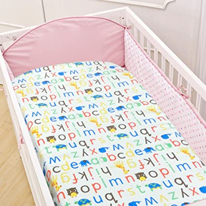 Waterproof Children Fitted Sheet Flat Sheet For Cot 100 Cotton Pack Of Yoofoss Amazon De Baby