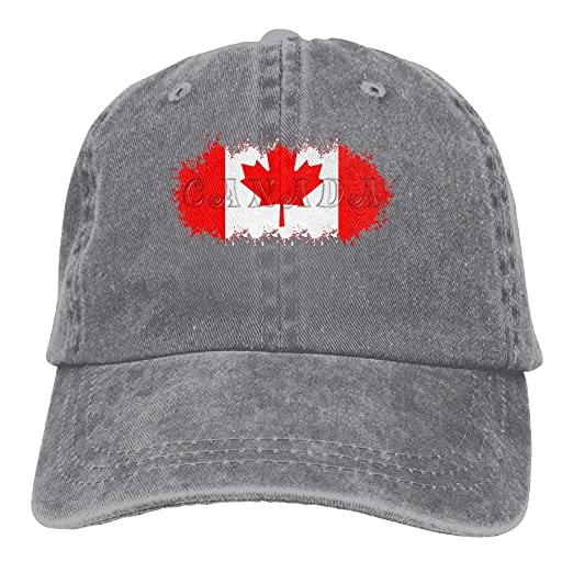 ae3e5b5c216a58 Canada Flag Patch Canadian Maple Leaf Classic Unisex Baseball Cap  Adjustable Washed Dyed Cotton Ball Hat