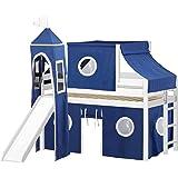 Amazon Com Bolton Furniture 9811500lt6pw Cottage Low Loft