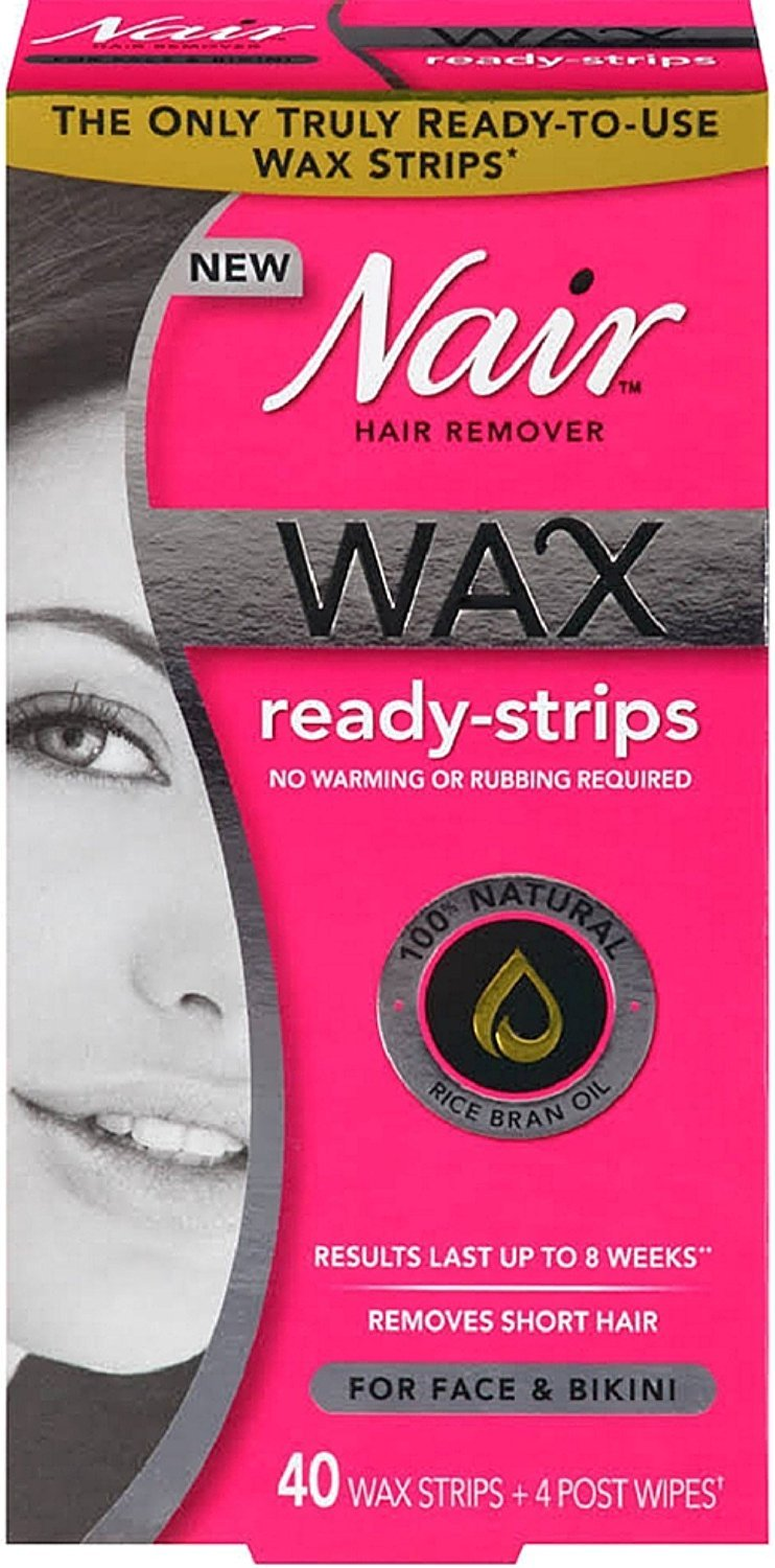 Nair Hair Remover Wax Ready Strips 40 ea (Pack of 8)