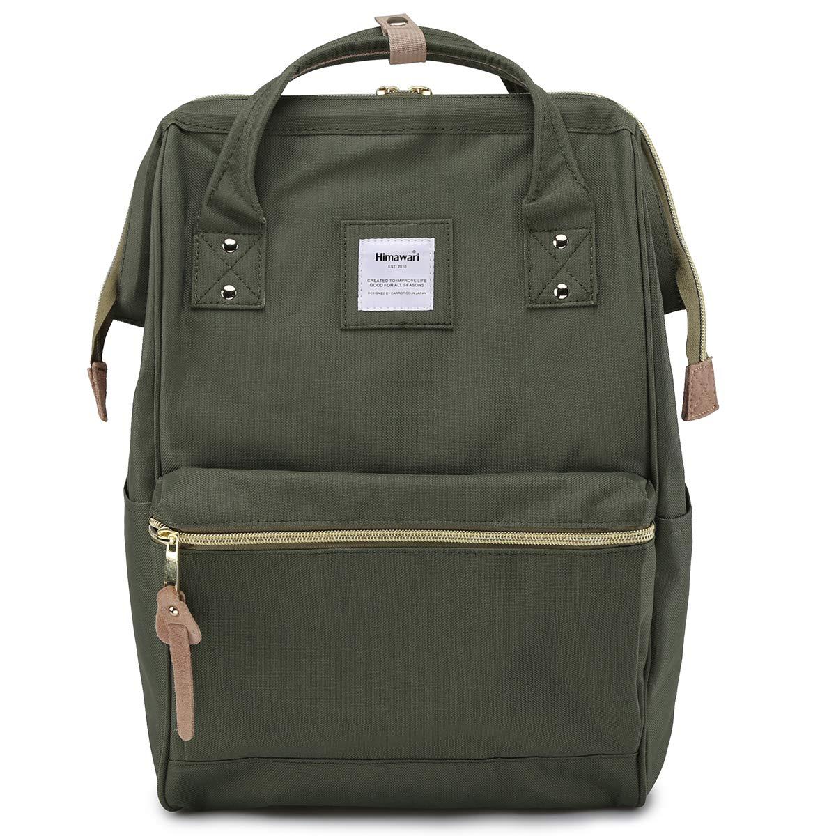 Himawari Travel Backpack Laptop Backpack Large Diaper Bag Doctor Bag Backpack School Backpack for Women&Men (xk green) by himawari