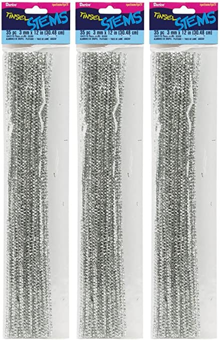 Darice Chenille Stems White 3mm 12 Inch