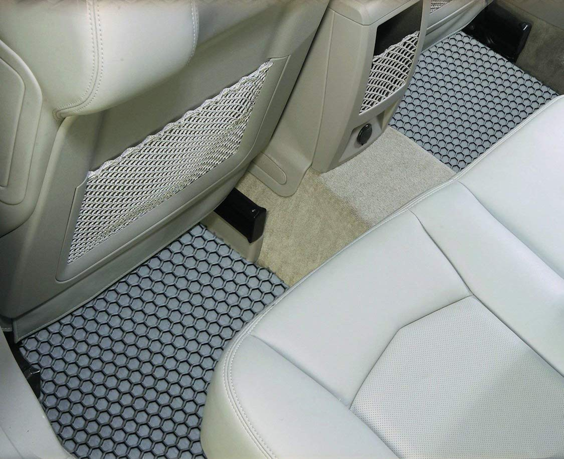 Rubber-Like Compound Intro-Tech OS-124F-RT-G Hexomat Front Row 2 pc Gray Custom Fit Auto Floor Mats for Select Oldsmobile Cutlass Models