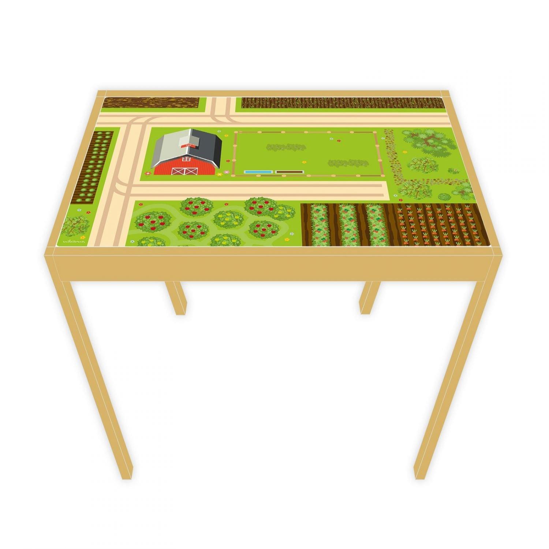 nikima - Spielfolie/Möbelfolie für Ikea Lätt Spieltisch Bauernhof Aufkleber Sticker Kinderzimmer (Möbel Nicht Inklusive)