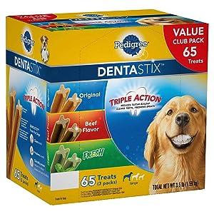 Pedigree Dentastix Treats Variety Pack (65Count/ 3.5 Lbs), 3.5 Lb