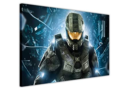 CANVAS WALL ART PRINTS HALO MASTER CHIEF PICTURES ROOM DECORATION ...