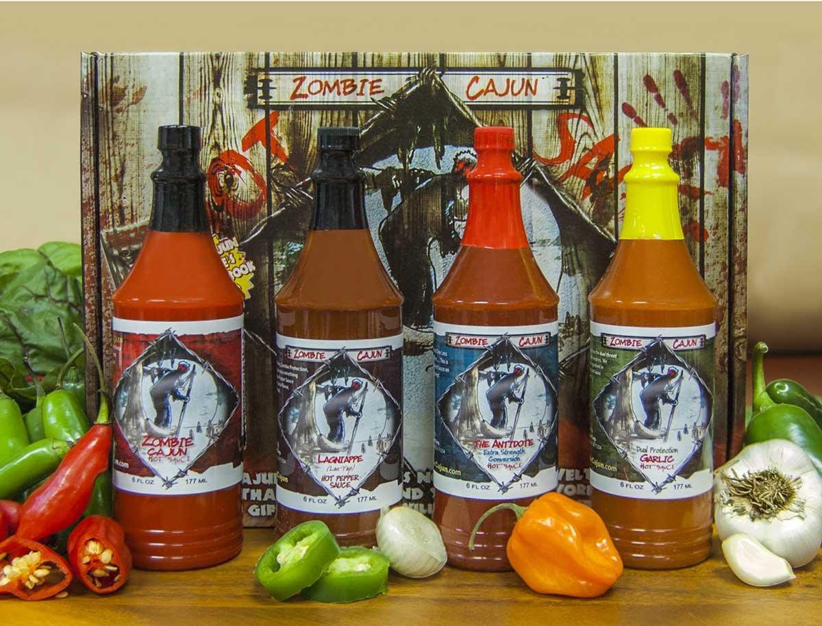 amazon com zombie cajun sauce gift set gourmet basket