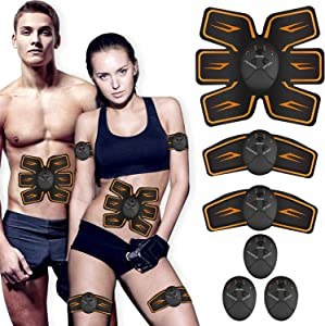 UMATE Abs Stimulator, Ab Workout Equipment, Abdominal Toning Belt Ultimate Ab Stimulator for Men Women, Work Out Power Fitness Abdominal Trainer with 6 Modes & 10 Levels