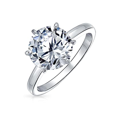 c9c1fbcee70a 2.75 CTW Solitaire CZ Engagement Wedding Ring Thin Band Cubic Zirconia  Sterling Silver