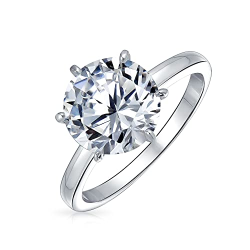 db91cfde3ee 2.75 CTW Solitaire CZ Engagement Wedding Ring Thin Traditional Band Cubic  Zirconia 925 Sterling Silver  Amazon.ca  Jewelry